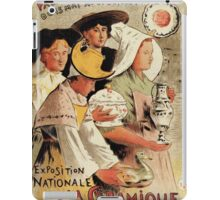 French belle epoque pottery expo advertising iPad Case/Skin