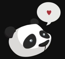 I love Panda shirt by derickyeoh