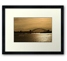 Golden Sydney Framed Print