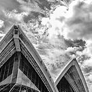 Sydney Opera House - Black & White by Mark Hyland