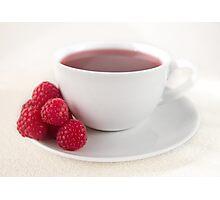Raspberry Tea Photographic Print