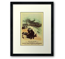 1893 French drowned sailors charity advertising Framed Print