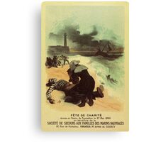 1893 French drowned sailors charity advertising Canvas Print