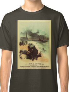 1893 French drowned sailors charity advertising Classic T-Shirt