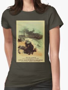 1893 French drowned sailors charity advertising Womens Fitted T-Shirt