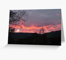 August Sunset. Greeting Card