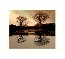 Canal Reflection .. Art Print