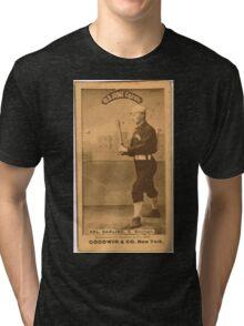 Benjamin K Edwards Collection Dell Darling Chicago White Stockings baseball card portrait 002 Tri-blend T-Shirt