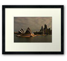 Golden Glow Sydney Opera House Framed Print