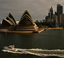 Golden Glow Sydney Opera House #2 by Noel Elliot