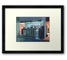 Convenience Store Downstairs Framed Print