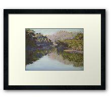 Lyrebird Track reflections Framed Print