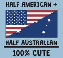 Half Australian 100% Cute Kids Tee