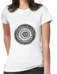 Mandala Flower Womens Fitted T-Shirt