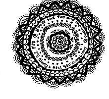Fire and the Flood Mandala Flower by Marlena Penn