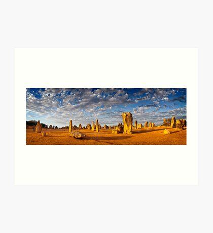 The Pinnacles (Panorama) Art Print