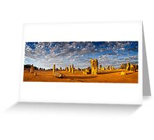 The Pinnacles (Panorama) Greeting Card
