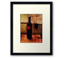 the wine glass Framed Print