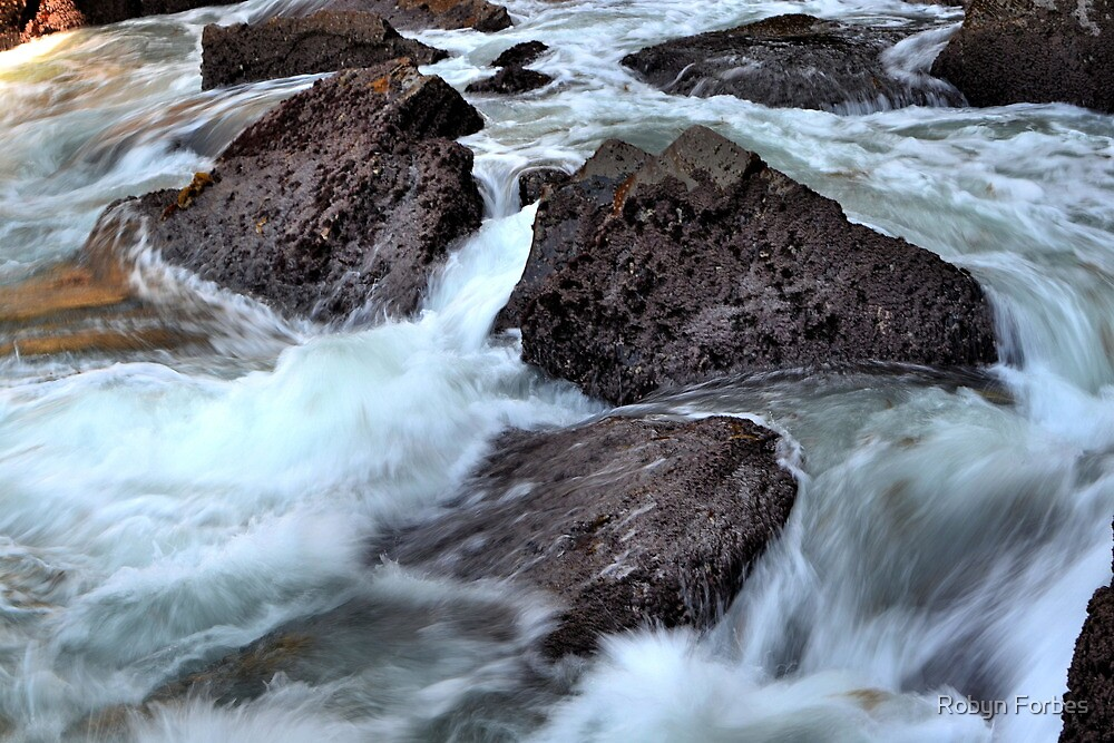 Water on the Rocks. by Robyn Forbes