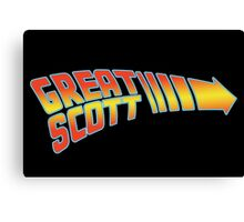 Great Scott Canvas Print