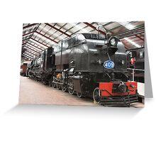 South Australian Steam Locomotive Greeting Card