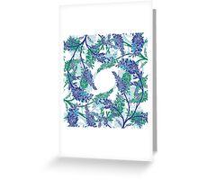 Winter Garden Gate  Greeting Card