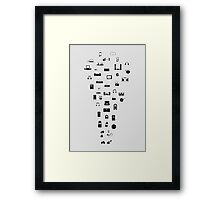 The Evolution of Audio Technology Framed Print
