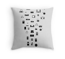 The Evolution of Audio Technology Throw Pillow
