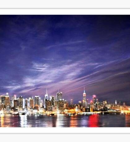 Manhattan Skyline: NYC Sticker