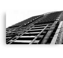 metro (black and white) Canvas Print