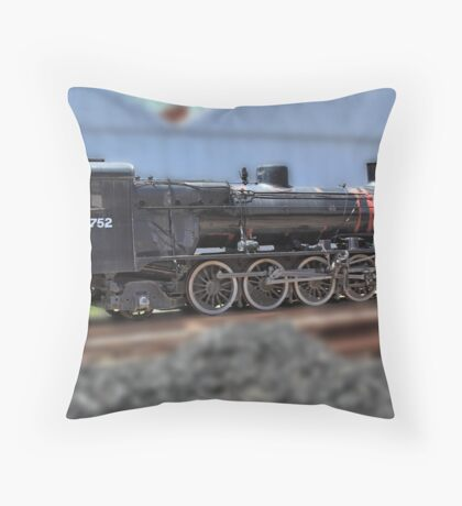 South Australian Steam Locomotive Throw Pillow