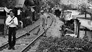tracks (black and white) by Karl David Hill