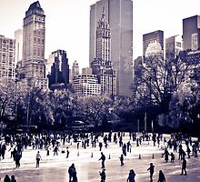Central Park Ice Rink by Kenny Castle