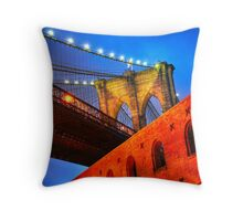 Brooklyn Bridge: NYC Throw Pillow