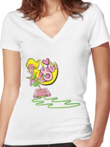 I love the 80's glam rockstar Women's Fitted V-Neck T-Shirt