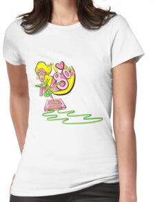 I love the 80's glam rockstar Womens Fitted T-Shirt