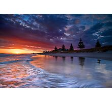 Papamoa Domain Dawn Rush Photographic Print