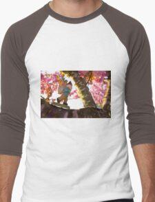 Pink Spring Roy Men's Baseball ¾ T-Shirt