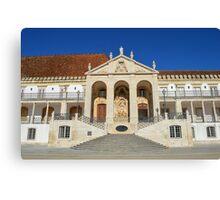 Grand entrance to Coimbra University  Canvas Print