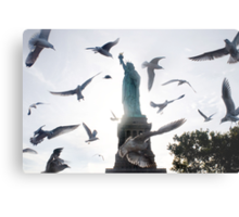Statue of Liberty with Birds: NYC Metal Print