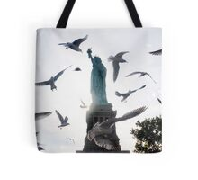 Statue of Liberty with Birds: NYC Tote Bag