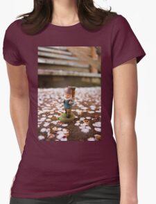Sakura Stairs Gnome I Womens Fitted T-Shirt