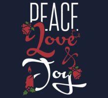 Peace, love & joy!  Kids Tee