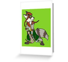 Raccoon Ranger Greeting Card