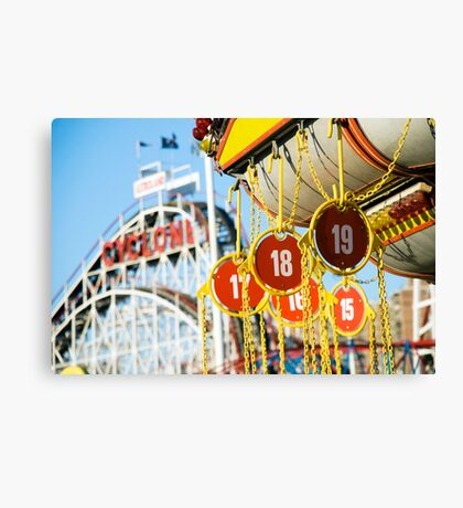 Coney Island Astroland and Cyclone: Brooklyn, NYC Canvas Print