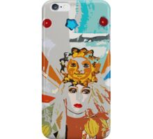 Pop arty tarot inspired collage - the sun iPhone Case/Skin