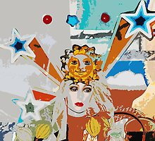 Pop arty tarot inspired collage - the sun by julessteed