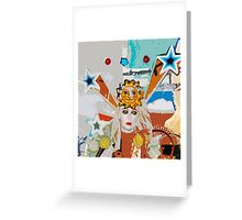 Pop arty tarot inspired collage - the sun Greeting Card