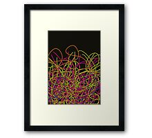 Colorful tangled wires Framed Print