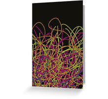 Colorful tangled wires Greeting Card